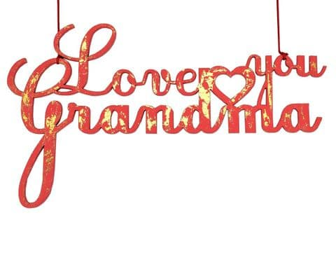 V32766 - Love You Grandma Gold Crush Teaberry Dec - FGRANDMA.16 6/PK