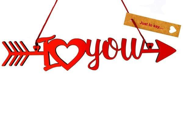 V32773 - I Love You Arrow Red Foil Dec - FILOVEYOU.20 6/PK