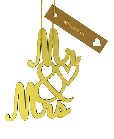 V32780 - Mr & Mrs Gold Foil Dec - FMR&MRS.51 6/PK