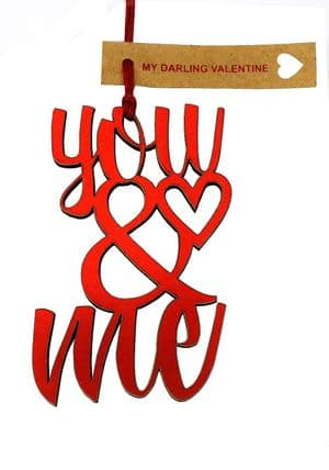 V33183 - Me & You Red Foil Dec - FYOU&ME.20 6/PK
