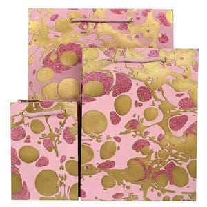 V33473; V33442; V33411 - Glitter Marble Rose Bag - GBG215.100/10G 10/PK