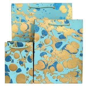 V33480; V33459; V33428 - Glitter Marble Bag Mint - GBG215.100/43G 10/PK