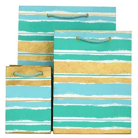 V33848; V33794; V33749 - Painterly Stripes Bag Mint - GBG276.00/42 10/PK