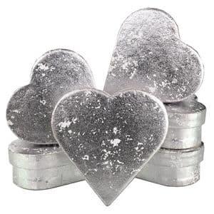 V33947 - Silver Crush Heart Mini Boxes - GBXH171.01 12/PK