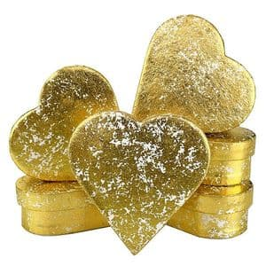 V33985 - Gold Crush Heart Mini Boxes - GBXH171.51 12/PK