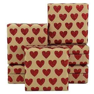 V34036 - Mini Hearts Glitter Red Mini Boxes - GBXM163.100/20G 12/PK