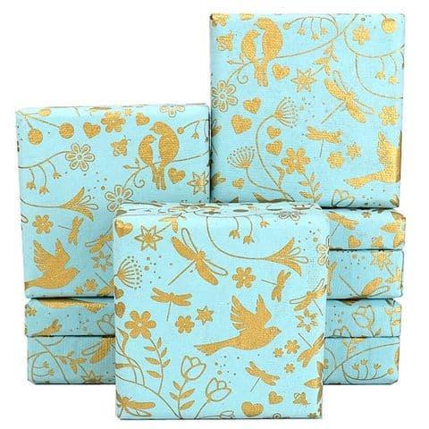 V34067 - Love Birds Floral Mint Mini Boxes - GBXM259.43 12/PK