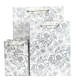 V35040; V35057; V35064 - Rose Silver Bag - GBG265.00/01 10/PK