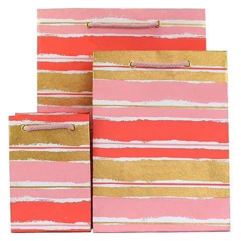 V35590; V35712; V35583 - Painterly Stripes Bag Pink - GBG276.00/10 10/PK