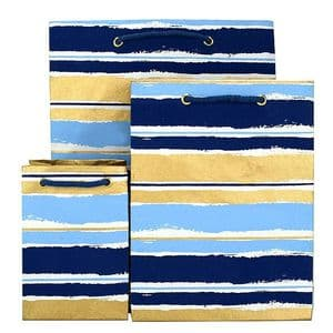 V35781; V35736; V35798 - Painterly Stripes Bag Blue - GBG276/00/48 10/PK