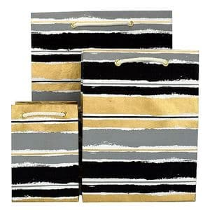 V35804; V35750; V35767 - Painterly Stripes Bag Black - GBG276.00/85 10/PK