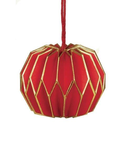 V37266 - Paper Lantern Bauble Berry - PXO.24/51 6/PK