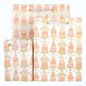 V41638; V41621; V41614 - Wedding Cakes Bag - GBG304.00 10/PK