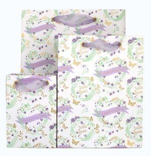 V41683; V41676; V41669 - Wedding Day Floral  Bag - GBG305.00 10/PK