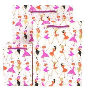 V41720; V41713; V41706 - Dancing Girls Raspberry Bag - GBG306.00 10/PK