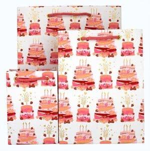 V41836; V41829; V41812 - Birthday Cakes Pink Bag - GBG308.00 PK/10 10/PK