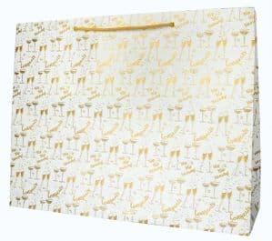 V41911 - Congratulations Gold XL Bag 5/PK