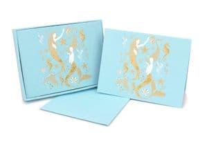 V42420 - Mermaids Note Cards s/8 6/PK