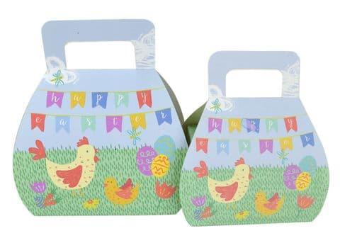 V42598 - Easter Folding Handbag Boxes Set of 2 12/PK