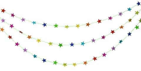 V43175 - Glitter Star Garland 6/PK