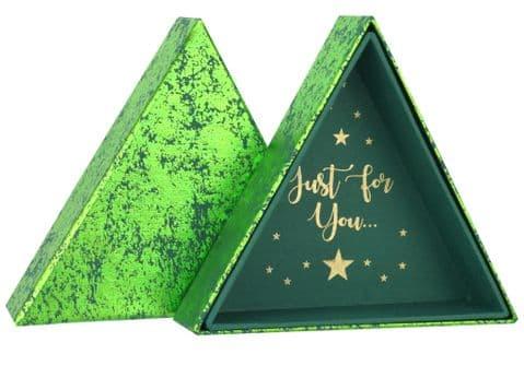 V44004 - Triangular Box Green Crush 6/PK