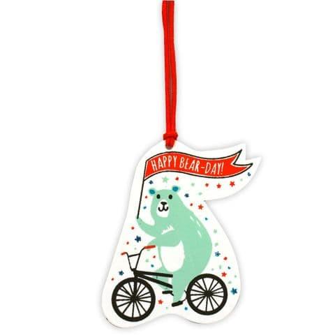 V45834 - Happy Bearday  Gift Tags S/4 12/PK