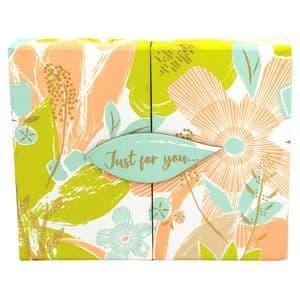 V46213 - Textured Floral Gift Card Box 4/PK