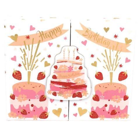 V46251 - Birthday Cakes Gift Card Box 4/PK