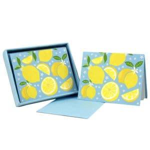 V46305 - Lemons Note Cards Set of 8 6/PK
