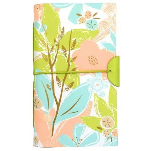 V46336 - Textured Floral Leather Journal 4/PK