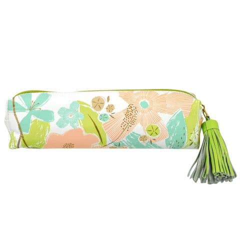 V46473 - Textured Floral Leather Pouch 4/PK