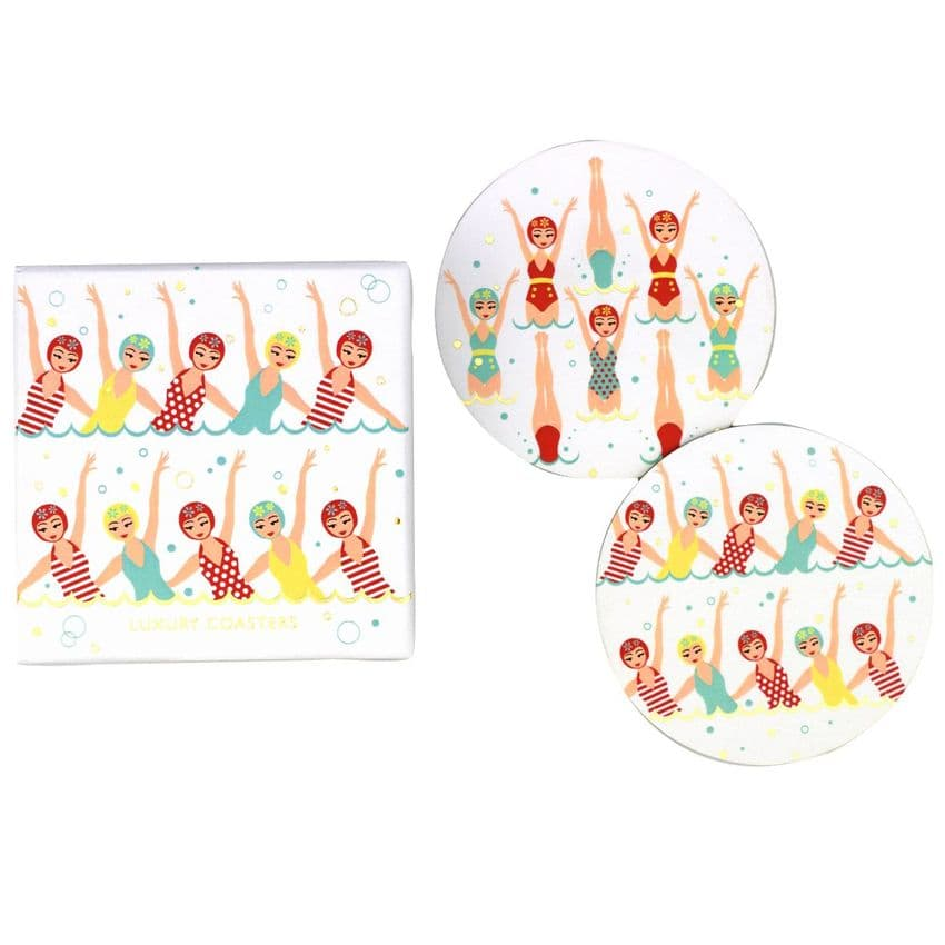V46565 - Swimmers Coasters S/8 4/PK