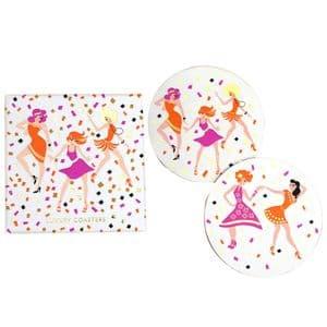 V46572 - Dancers Coasters S/8 4/PK