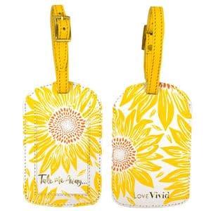 V46619 - Sunflowers Luggage Tag 4/PK