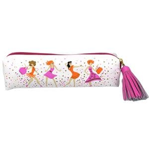 V47227 - Dancing Girls Leather Pouch 4/PK
