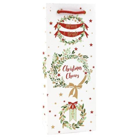 V47579 - Wreaths Bottle Bag 10/PK