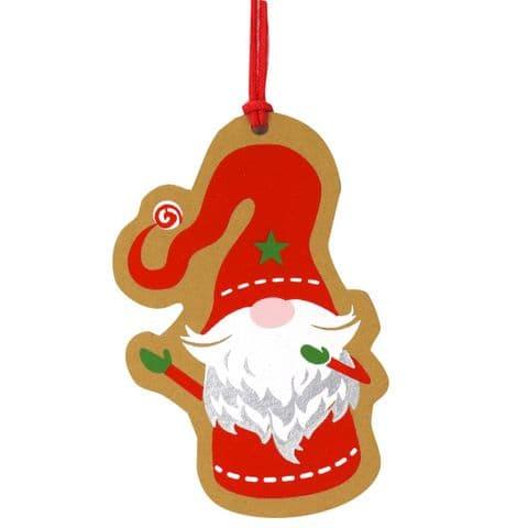 V48064 - Holiday Gnomes Tag Set of 4 12/PK