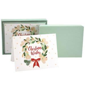 V48118 - Wreaths Note Cards Set of 8 6/PK