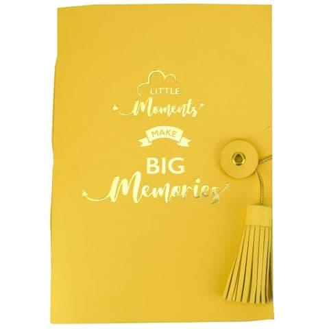 V48378 - Little Moments Leather Journal Lemon 4/PK