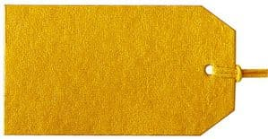 V65431 - Plain Gift Tags Gold GTP51 30/PK