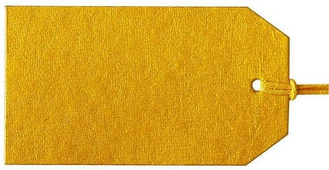 V65431 - Plain Gift Tags Gold GTP51 30/PK