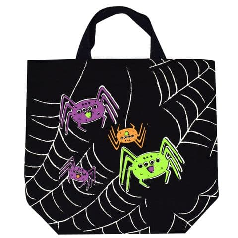 V48170 - Canvas Spider Treat Bag 6/PK