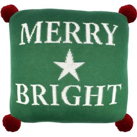 "V48439 - Merry & Bright 12"" Pillow Green 2/PK"