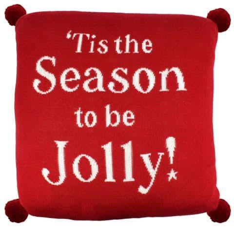 "V48453 - Jolly & Jingle 16"" Pillow Red 2/PK"