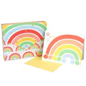 V48767 - Rainbow Note Cards S/8 6/PK
