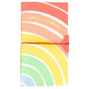V48781 - Rainbow Leather Journal 4/PK