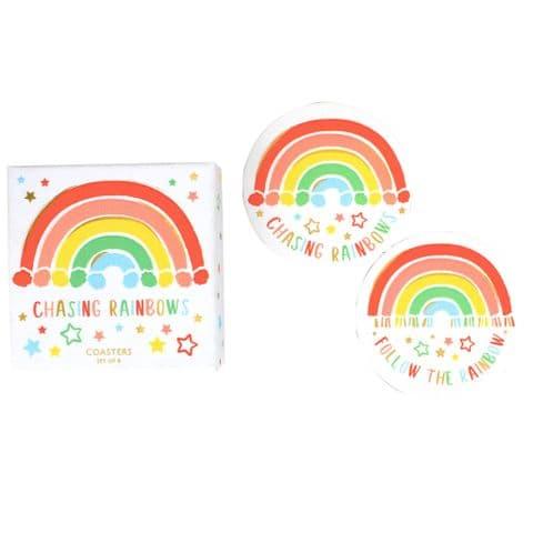 V48798 - Rainbow Coasters S/8 4/PK
