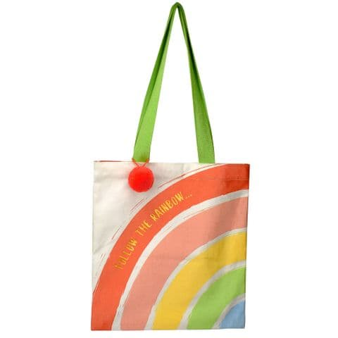 V48859 - Rainbow Canvas Market Tote 4/PK