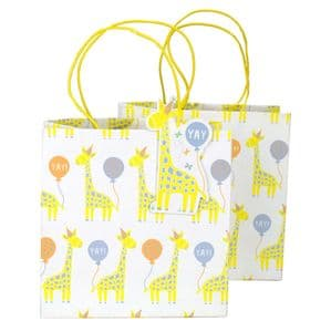 V48910 - Baby Giraffe Party Bags & Tags S/4 4/PK