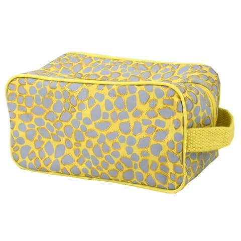 V48972 - Giraffe Canvas Toiletry Bag 4/PK